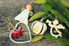 Zabawki dla dekoraci choinka Zdjęcie Royalty Free
