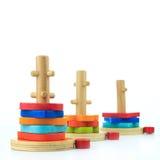 zabawki, drewniany Obrazy Royalty Free