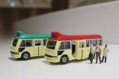 zabawki minibus fotografia stock