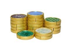 Zabawki monety transformata zdjęcie royalty free