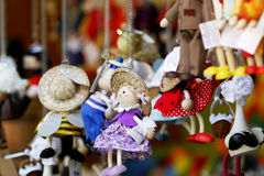 Zabawki na rynku kramu Starym miasteczku Praga Fotografia Royalty Free
