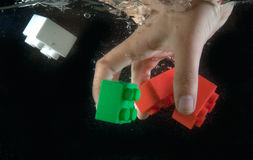 zabawki opuszczająca woda Obraz Stock