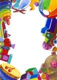 Zabawki rama ilustracji
