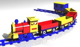 zabawkowy pociąg Zdjęcie Stock