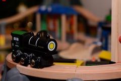 zabawkowy pociąg drewna zdjęcie stock