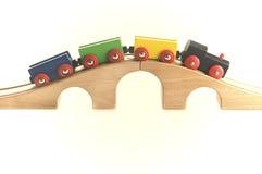 zabawkowy pociąg drewna Obrazy Royalty Free
