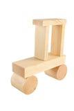 zabawkowy samochód drewna Obrazy Royalty Free