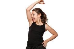 zabawna dziewczyna portret Zdjęcie Stock
