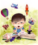 Zabawna książka Ilustracja Wektor