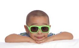zabawna twarz chłopca Zdjęcia Royalty Free