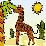 zabawna żyrafa Obrazy Royalty Free