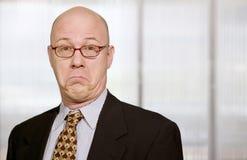 zabawne, biznesmen twarzy obraz stock