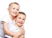 zabawne dwóch chłopców Zdjęcie Royalty Free