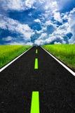 zabawne kolaż drogowy samochód do nieba Obraz Royalty Free