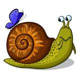 zabawne ślimak royalty ilustracja