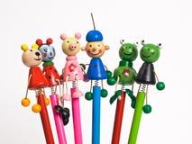 zabawne ołówki Zdjęcia Stock
