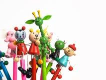 zabawne ołówki Zdjęcia Royalty Free