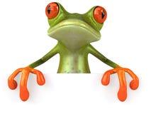 zabawne pustej żaby znak Zdjęcia Royalty Free