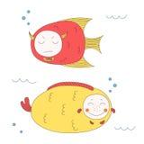 zabawne ryb royalty ilustracja