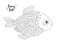 zabawne ryb książkowa kolorowa kolorystyki grafiki ilustracja Obraz Royalty Free