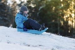 zabawnie kierowcy sledge zimy Fotografia Royalty Free
