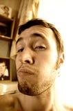 zabawny facet portret sepiowy Obrazy Stock