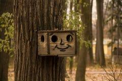 Zabawy birdhouse na drzewie Zdjęcia Stock