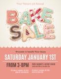 Zabawy ciastko piec sprzedaży ulotki szablon Fotografia Royalty Free