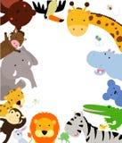 Zabawy dżungli zwierząt granica Fotografia Royalty Free