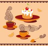 Zabawy herbaty set ilustracji