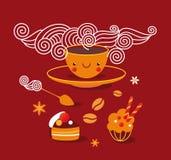 Zabawy kawy set ilustracja wektor