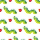 Zabawy kreskówki gąsienic wzór Śliczny insekt Zdjęcie Stock