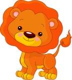 zabawy lwa zoo Obrazy Royalty Free