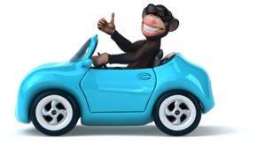 Zabawy małpa ilustracja wektor