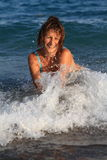zabawy morza fala Fotografia Stock