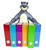 Zabawy Niedźwiadkowy postać z kreskówki z kartotekami Fotografia Royalty Free