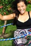 zabawy obręcza hula kobieta obraz royalty free