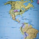 Zabawy Północna Ameryka usa podróży Kolorowa mapa Zdjęcie Royalty Free