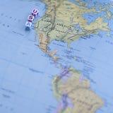 Zabawy Północna Ameryka usa podróży Kolorowa mapa Zdjęcie Stock
