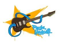 Zabawy rockowa gitara z jęzorem Zdjęcia Stock