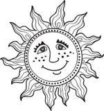 Zabawy słońce z wzorami Obrazy Royalty Free