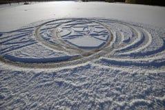 zabawy samochodowa zima Zdjęcia Royalty Free