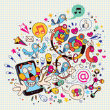 Zabawy telefon komórkowy royalty ilustracja