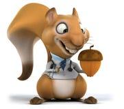 Zabawy wiewiórka ilustracja wektor