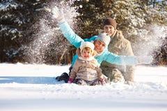 zabawy zima Zdjęcie Royalty Free