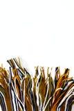 Zabawy zimy tło z pasiastym szalikiem Zdjęcia Stock