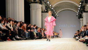 ZABELINA presentation, Ukrainian Fashion Week 2015,Kiev, Ukraine,. KIEV - OCT 18: ZABELINA presentation during Ukrainian Fashion Week 2015 on October 18, 2015 in stock video footage