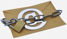 Zabezpiecza emaila Obrazy Royalty Free