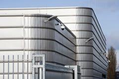Zabezpiecza metalu przemysłowego budynek Obraz Royalty Free