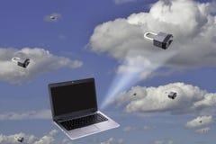 Zabezpiecza twój dane w chmurze Zdjęcia Royalty Free